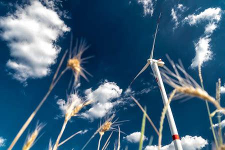 wind energy park on a field in Germany Stock fotó