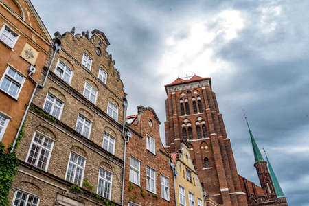 oldtown of Gdansk in Poland at the coast of the Baltic Sea