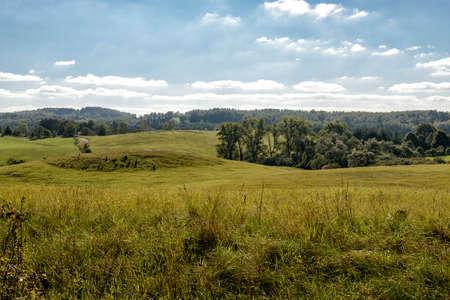 landscape in Masuria in eastern Poland