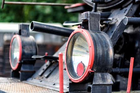 old steam ocomotive in a railway station in Poland Фото со стока