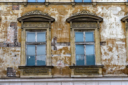 front of a building in Poland with the need for rconstruction