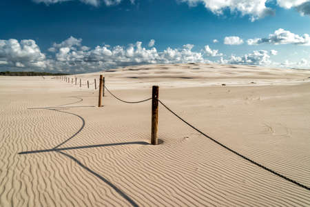 dune landscape at the Baltic coast in Leba, Poland