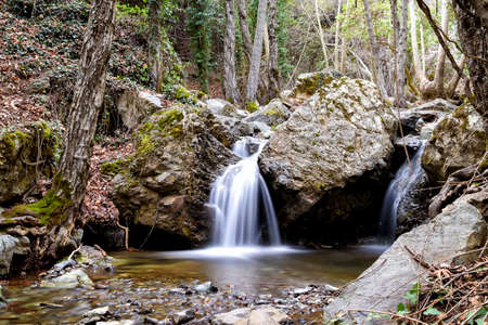 little waterfall in Cyprus close to the waterfall of Kaledonia Stockfoto