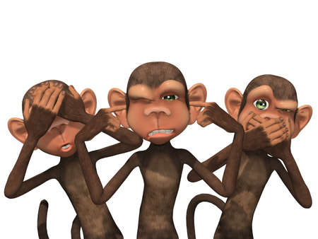 evil eye: Three Wise Monkeys - See No Evil, Hear No Evil, Speak No Evil