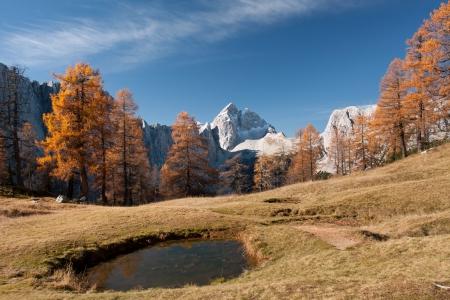 山 Julian アルプス スロベニアの Sleme から Jalovec で表示します。