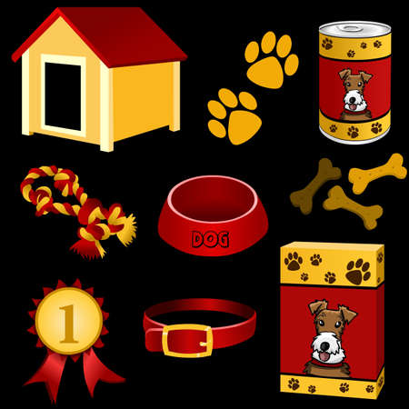 in the dog house: dog icon set