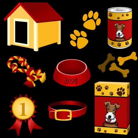 dog icon set Stock Vector - 10213783