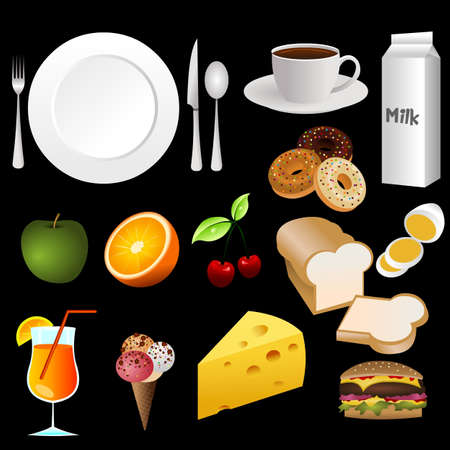 food icons Stock Vector - 10226507