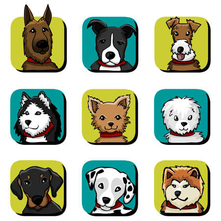 dalmata: razze di cani Vettoriali