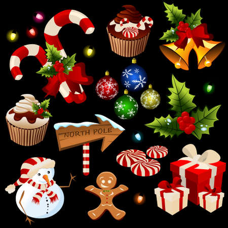 christmas icons Stock Vector - 11580396