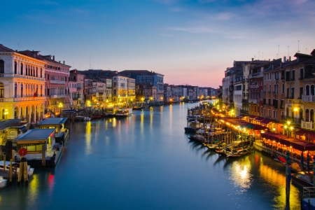 Grand canal at Twiilight, Venice