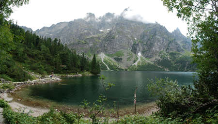 morskie: Morskie Oko pond in Tatry mountains Stock Photo