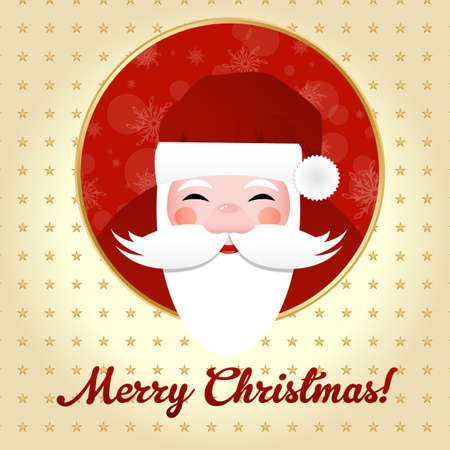 Greeting Card With Santa Claus, Vector Illustration Stock Vector - 11489880