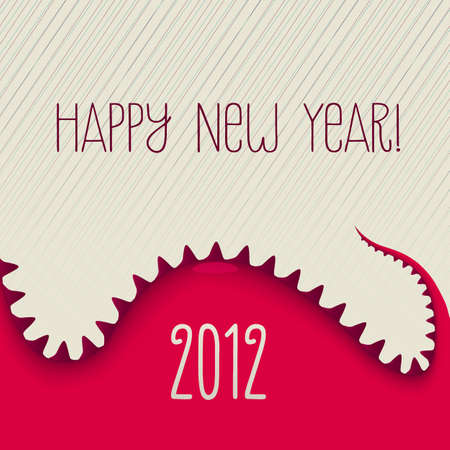New Year Dino, Vector Illustration  Vector