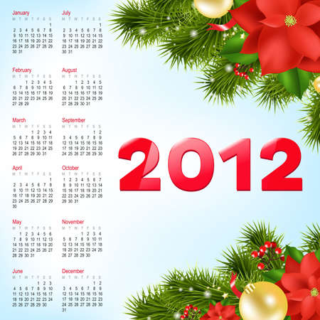 Calendar 2012, Vector Illustration Vector
