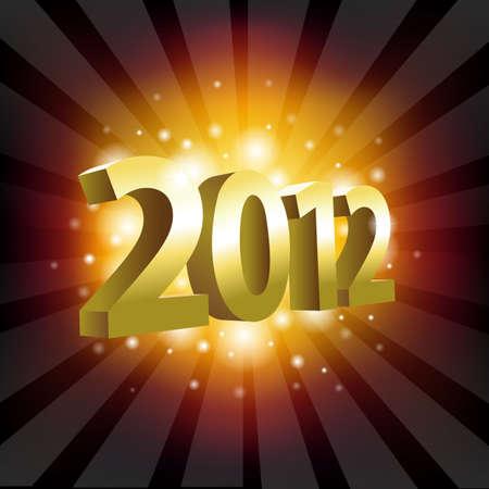 2012 Year Poster, Vector Illustration Vector