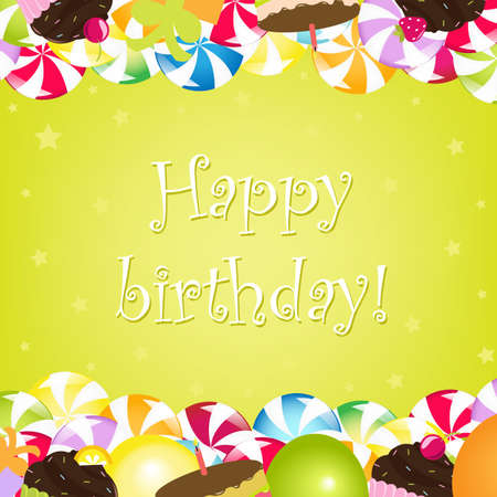 Birthday Card, Vector Illustration Vector