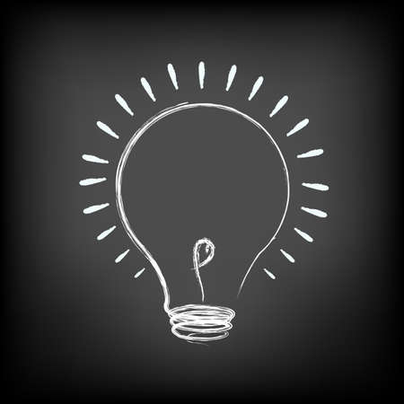 Illustration Of Idea Lamp, Vector Illustration Vector