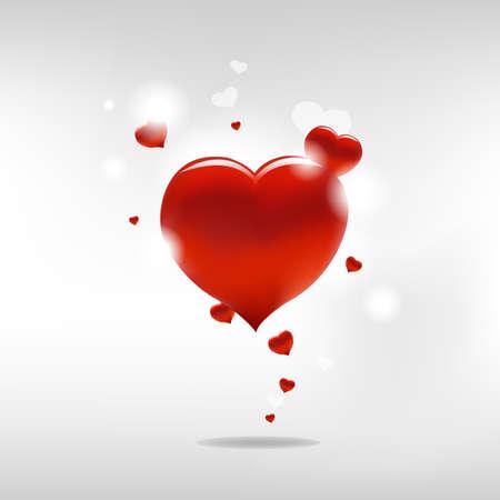 heiraten: Valentinstag Hintergrund mit Herzen und Papier, Vektor-Illustration