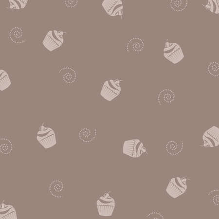 old kitchen: Cake Background, Vector Illustration