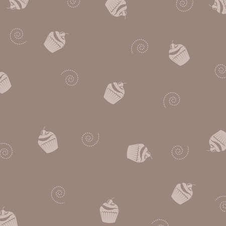 baby cupcake: Cake Background, Vector Illustration