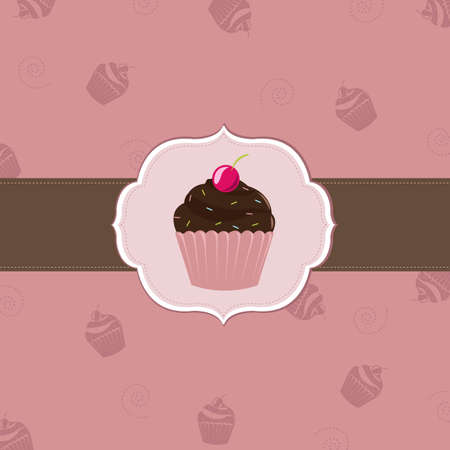 Cake Cards Template, Vector Illustration