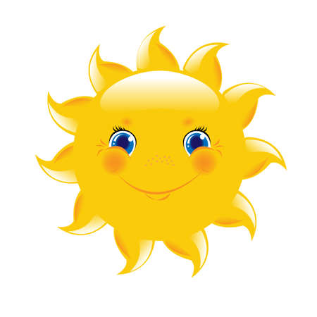 cartoon eyes: Cartoon Sun  Illustration