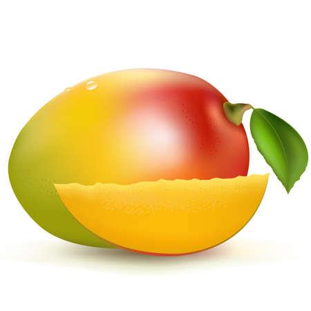 mango: Mango, Isoliert auf wei�em Hintergrund, Vektor-Illustration