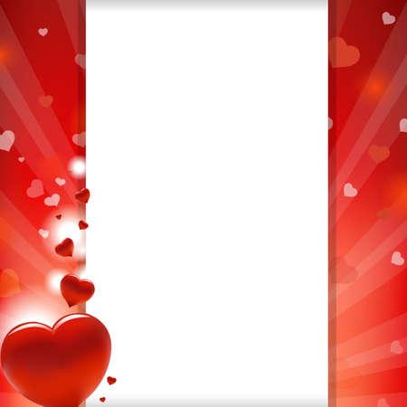 Valentines Herz und Papier, Illustration