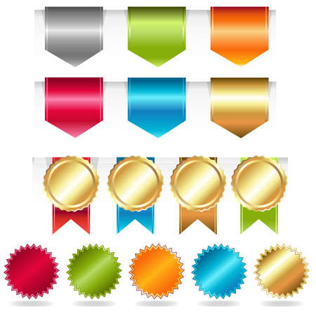 Web Ribbons, Illustration  Vector