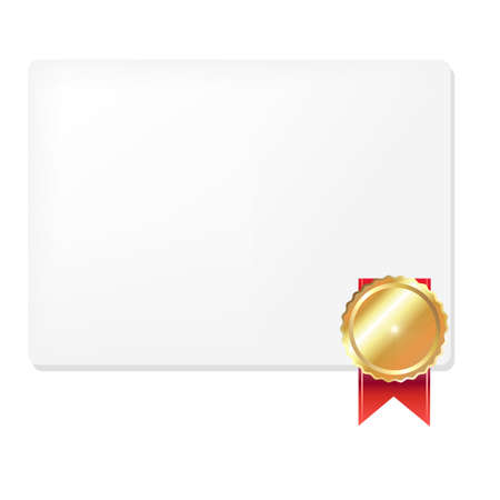 Medal And Blank Gift Tag, Vector Illustration Stock Vector - 12285288