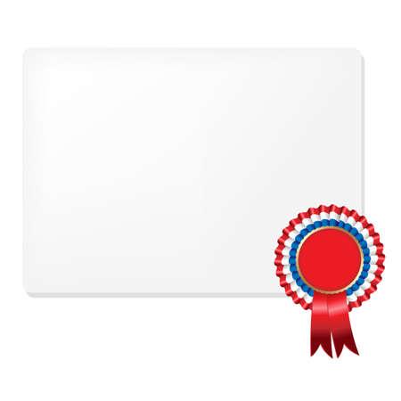 Ribbon Rosette Badge, Isolated On White Background, Vector Illustration Stock Vector - 12285286