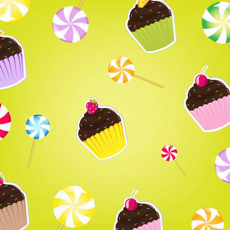 Cupcakes Labels, Vector Illustration  Vector