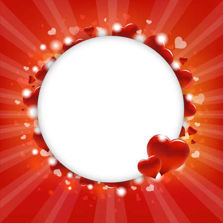 valentines holiday: Circle With Hearts, Vector Illustration