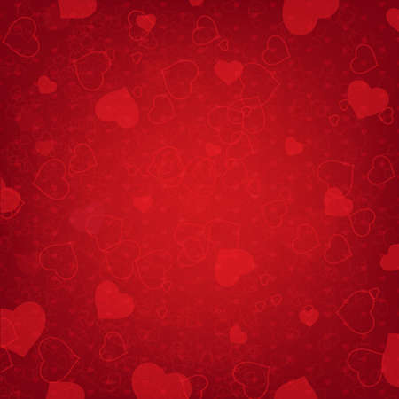 Valentines Day Background With Heart And Blur, Vector Illustration Vector