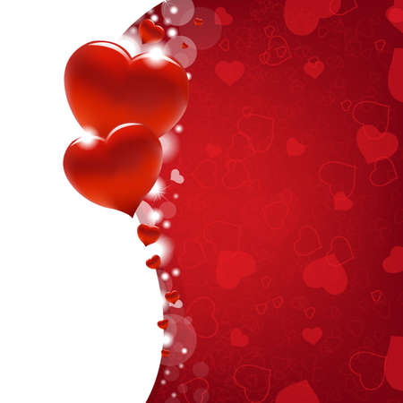 Valentines Day Card With Heart And Blur, Vector Illustration Stock Vector - 12285315