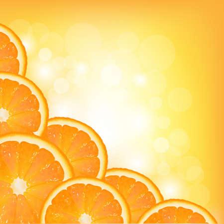 segment: Orange Segment Frame, Vector Background