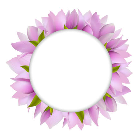 Magnolia With Circle, Vector Illustration Stock Vector - 12487110