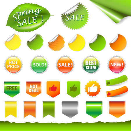 Spring Sale Set Stock Vector - 12856470