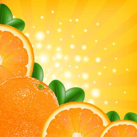 Orange Poster Vector