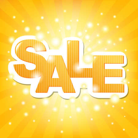 big sale: Sale Orange Poster