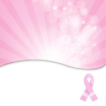 cancer de mama: Cáncer de pecho de la cinta fondo, ilustración vectorial Vectores