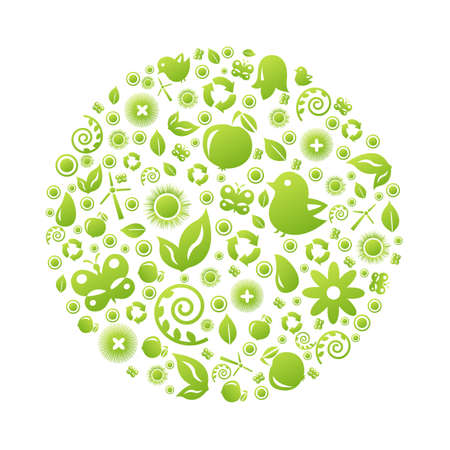 permaculture: Eco Planet, Isolated On White Background