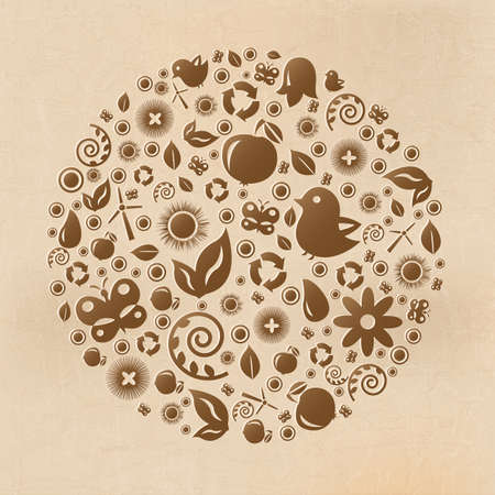 Vintage Eco Planet And Old Background Vector