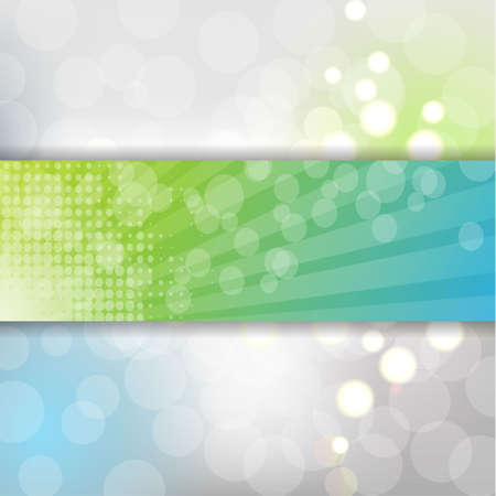 Abstract Banner With Bokeh And Blur, Vector Illustration