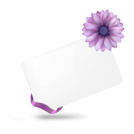 gerber: Blank Gift Tag With Gerber, Isolated On White Background, Vector Illustration