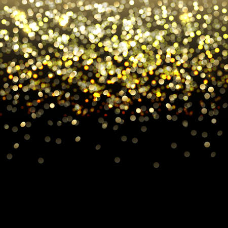 Defocused Gold Abstract Background With Bokeh Illustration Vector