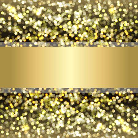 speck: Defocused Gold Background With Bokeh, Vector Illustration Illustration