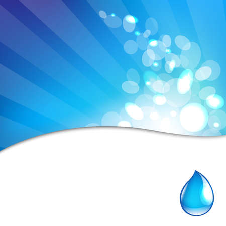 condensation: Abstract Blue Background With Water Drop Illustration
