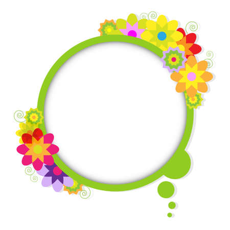 Abstract Design Bubble With Flowers, Stock Vector - 14008311